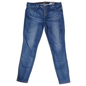 Torrid Button Fly Bombshell Skinny Jeans Medium 22